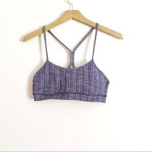 Lululemon purple  power Y sports bra
